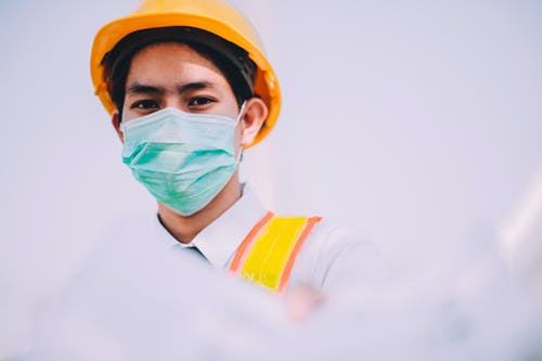 Person Wearing a Surgical Mask