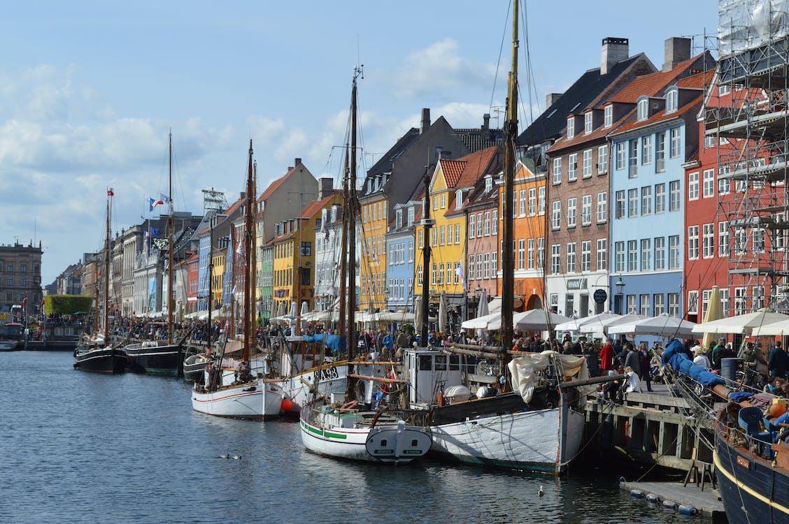 aigua, arquitectura, barques