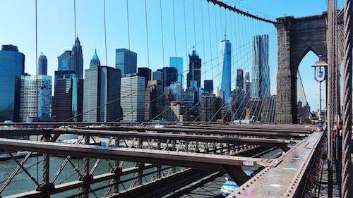 Fotobanka sbezplatnými fotkami na tému architektúra, Brooklyn Bridge, budovy, centrum mesta