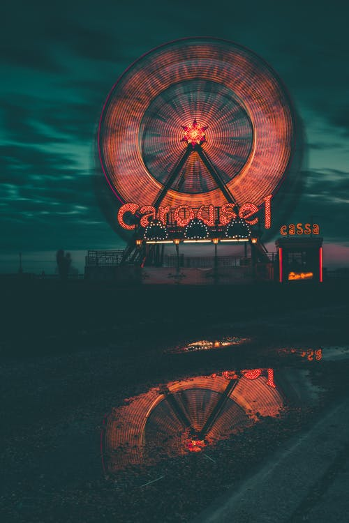 Free stock photo of notte, panoramica, parco giochi