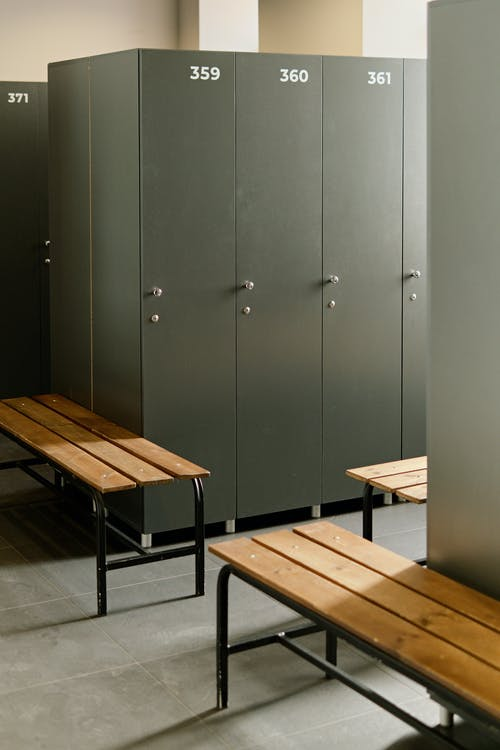 Locker room with Benches