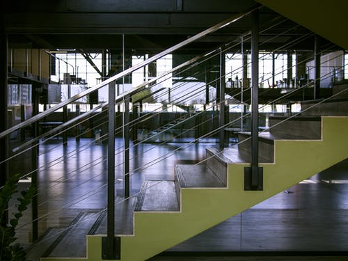 Gray Steel Handrails