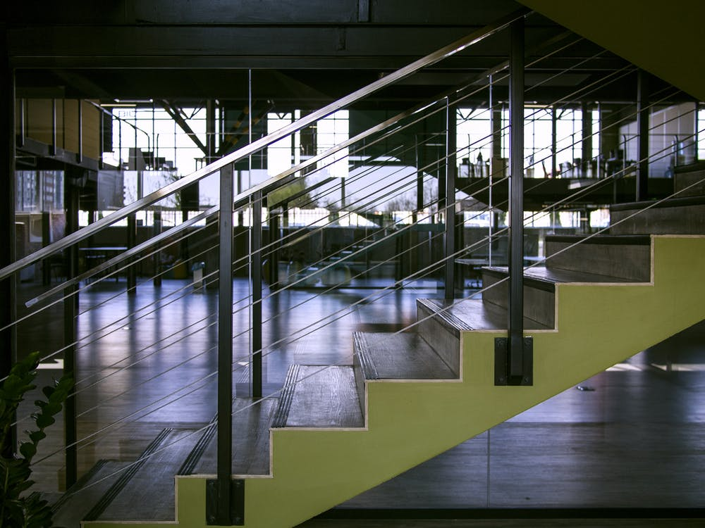 Gray Steel Handrails