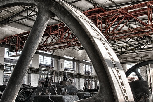 Free stock photo of building, construction, industry, hall
