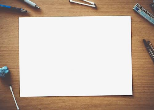 Gratis stockfoto met balpen, balpennen, blanco, bovenaanzicht