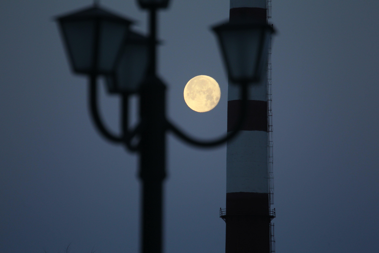 açık, akşam, ampul, ay içeren