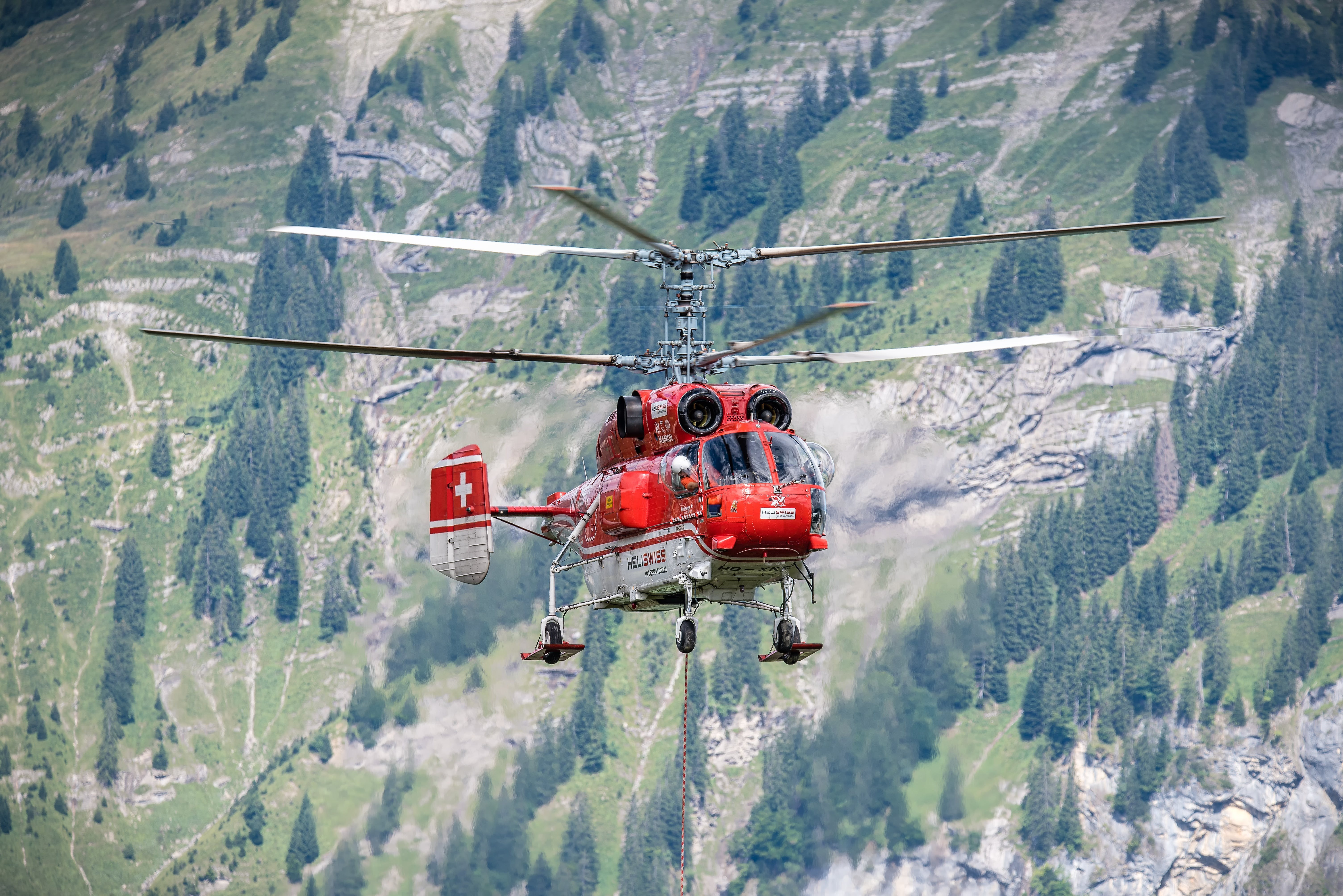 Free stock photo of work, helicopter, alpine, logging