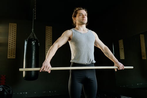 Man Training at a Gym