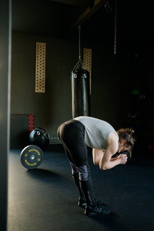 Foto stok gratis aktif, atlet, berat, berlatih