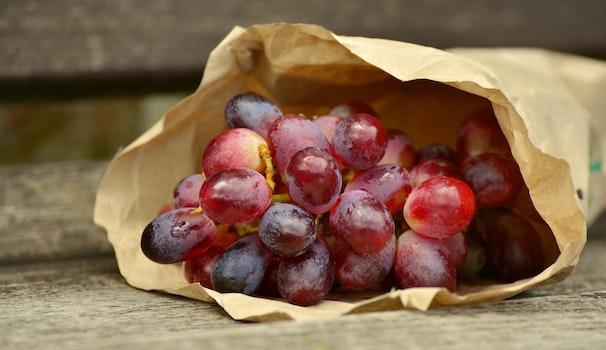 Free stock photo of fruits, grapes, fruit, bag