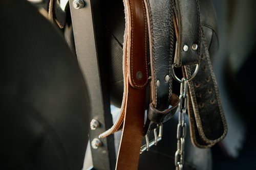 Close up of Leather Belts