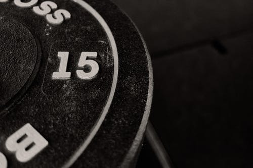Close up of a Weight Plate