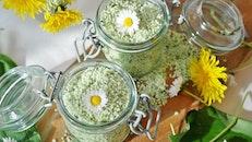 food, healthy, flowers