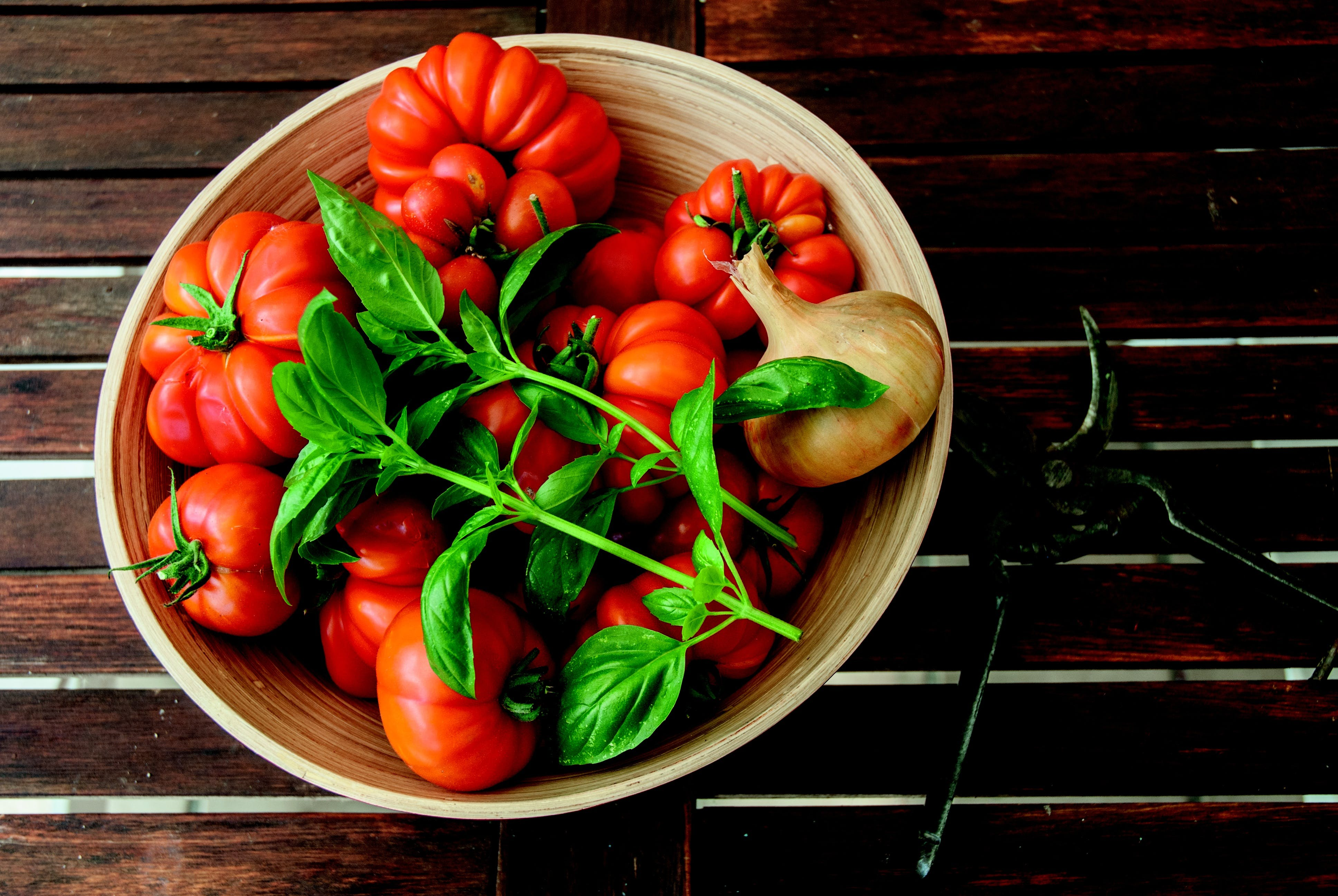 Bowl of Tomato, Onion and Basil