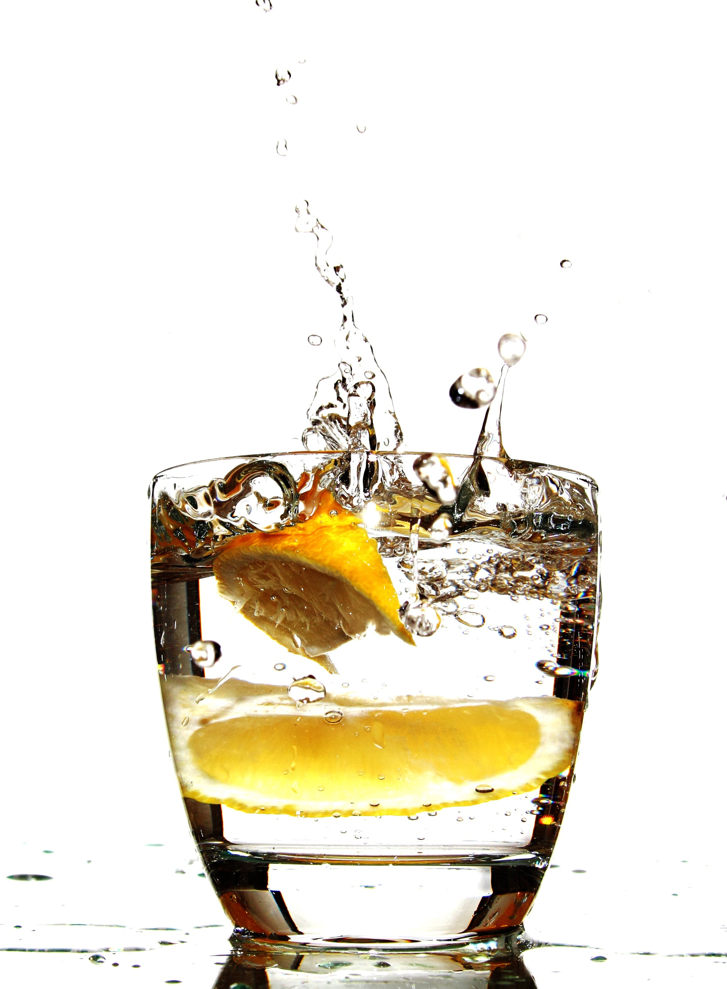 Lemon in Drinking Glass