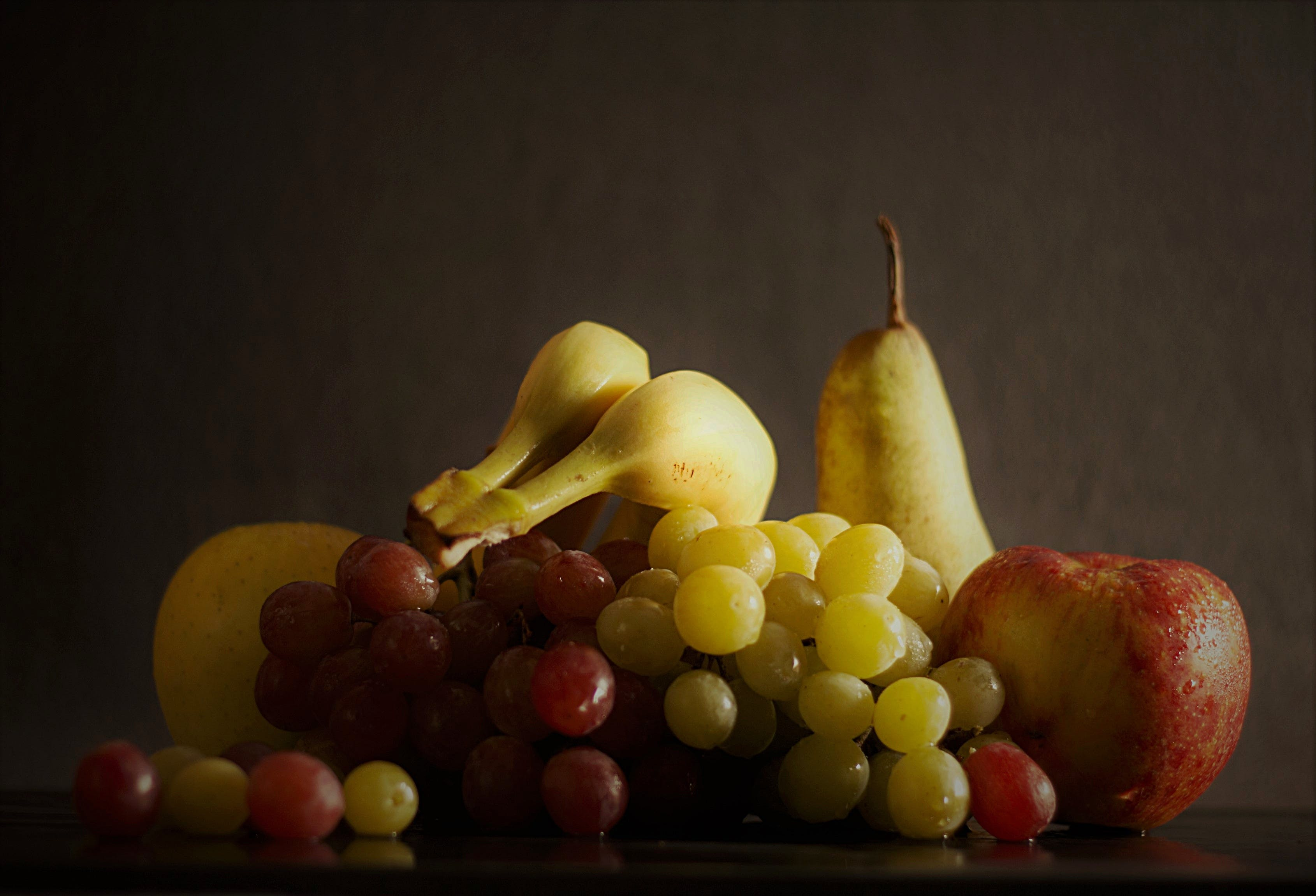 Free stock photo of healthy, apple, fruits, grapes