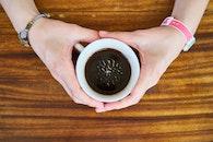 hands, coffee, mug