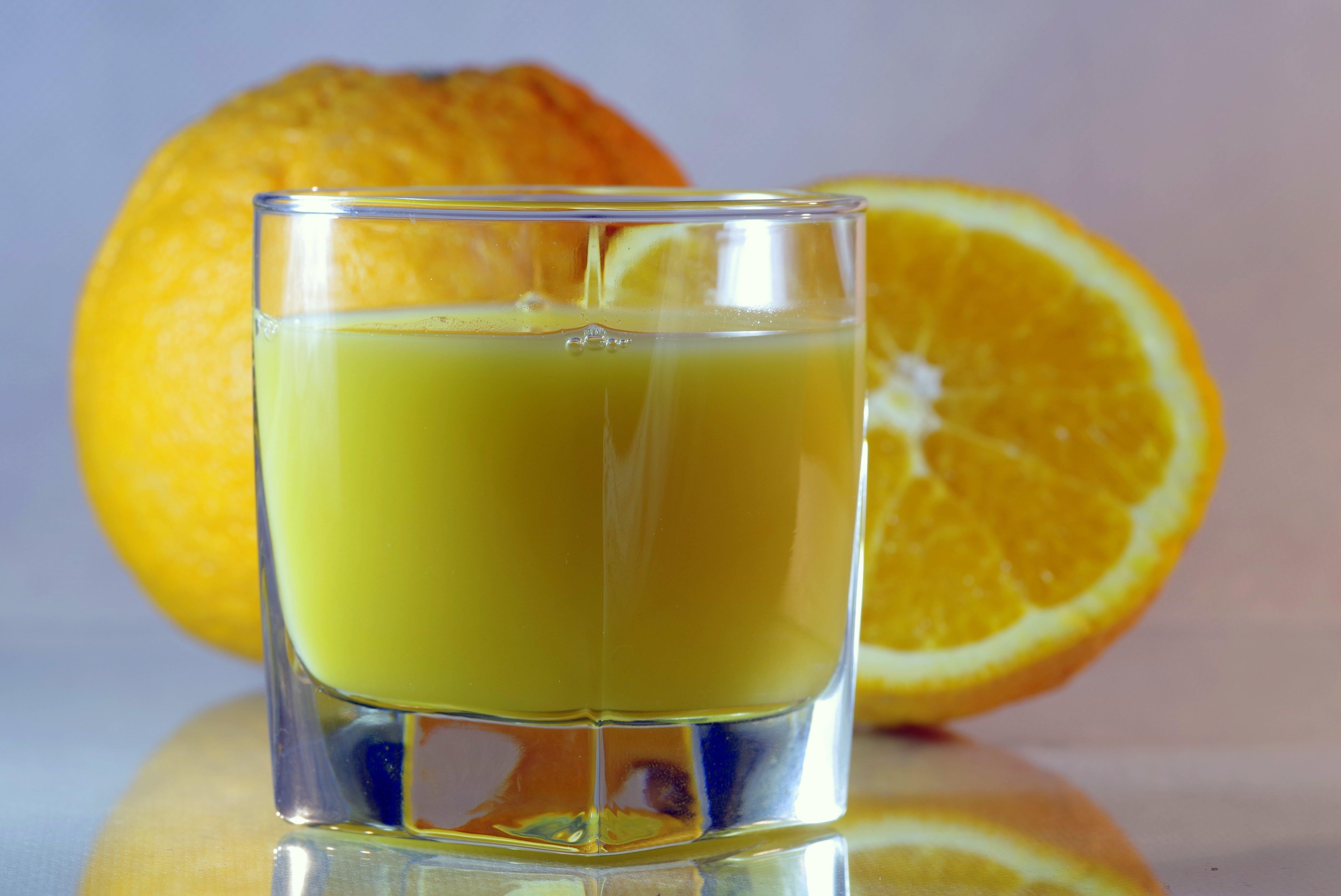 Lemonade Juice in Clear Glass