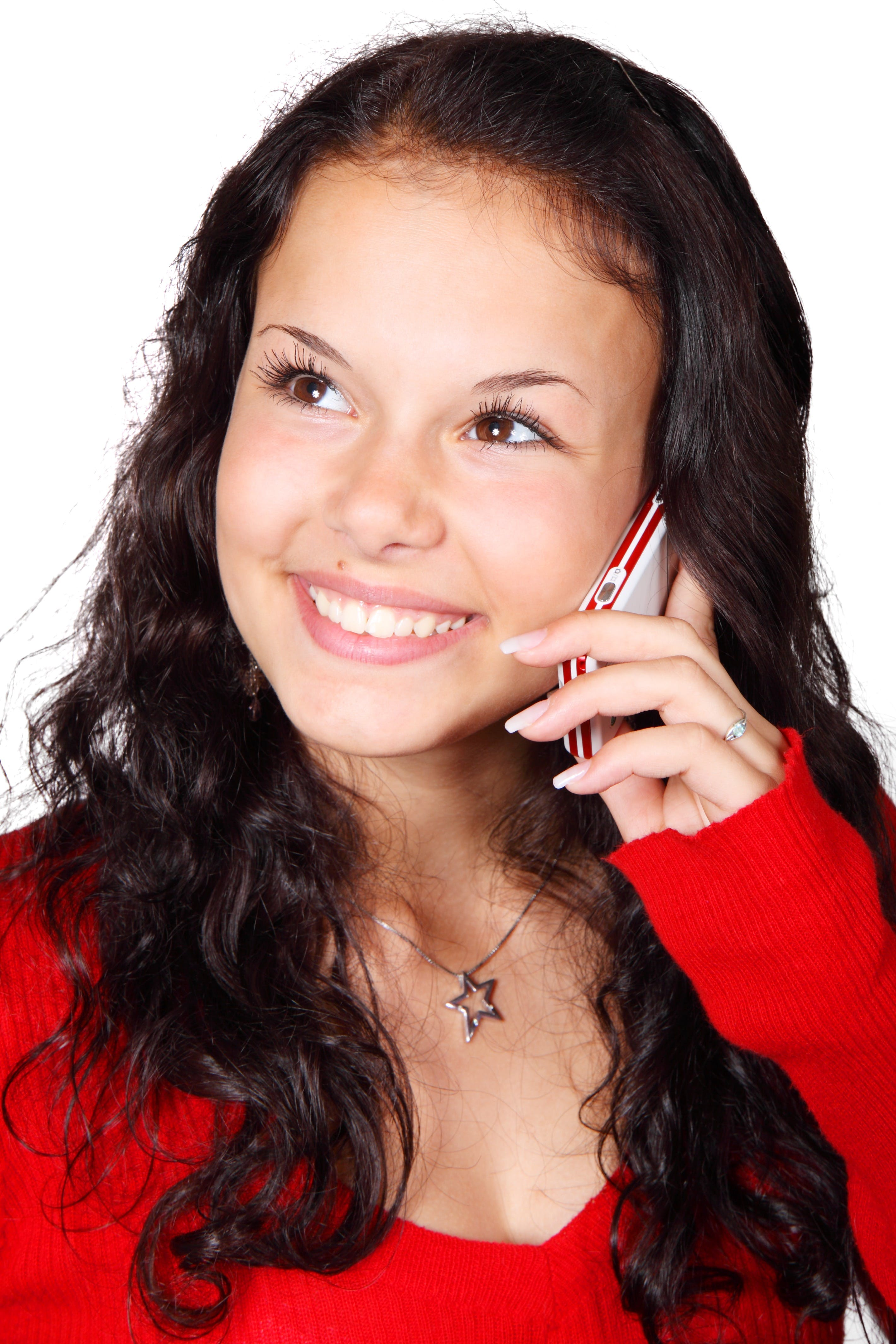 Free stock photo of woman, calling, young, happy