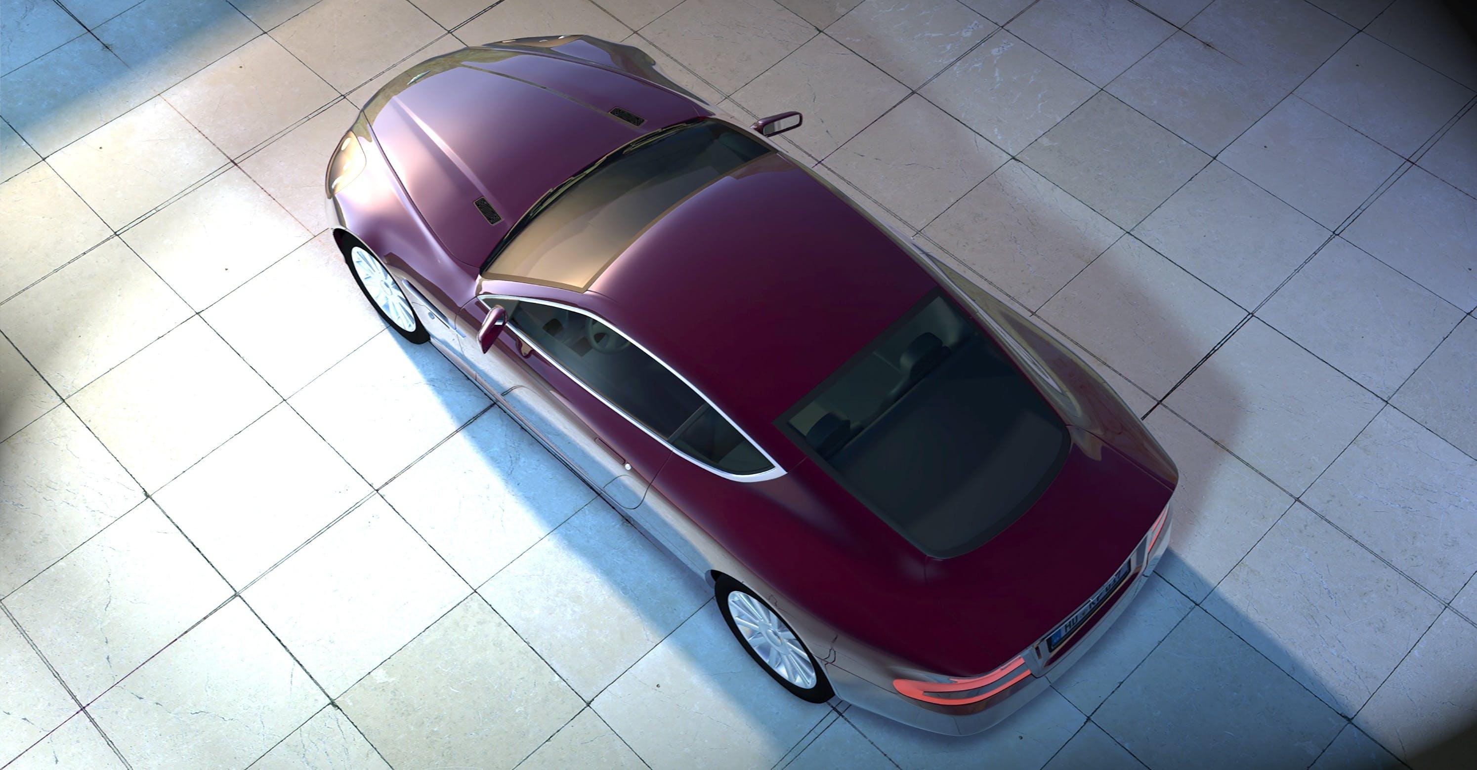 Purple Coupe