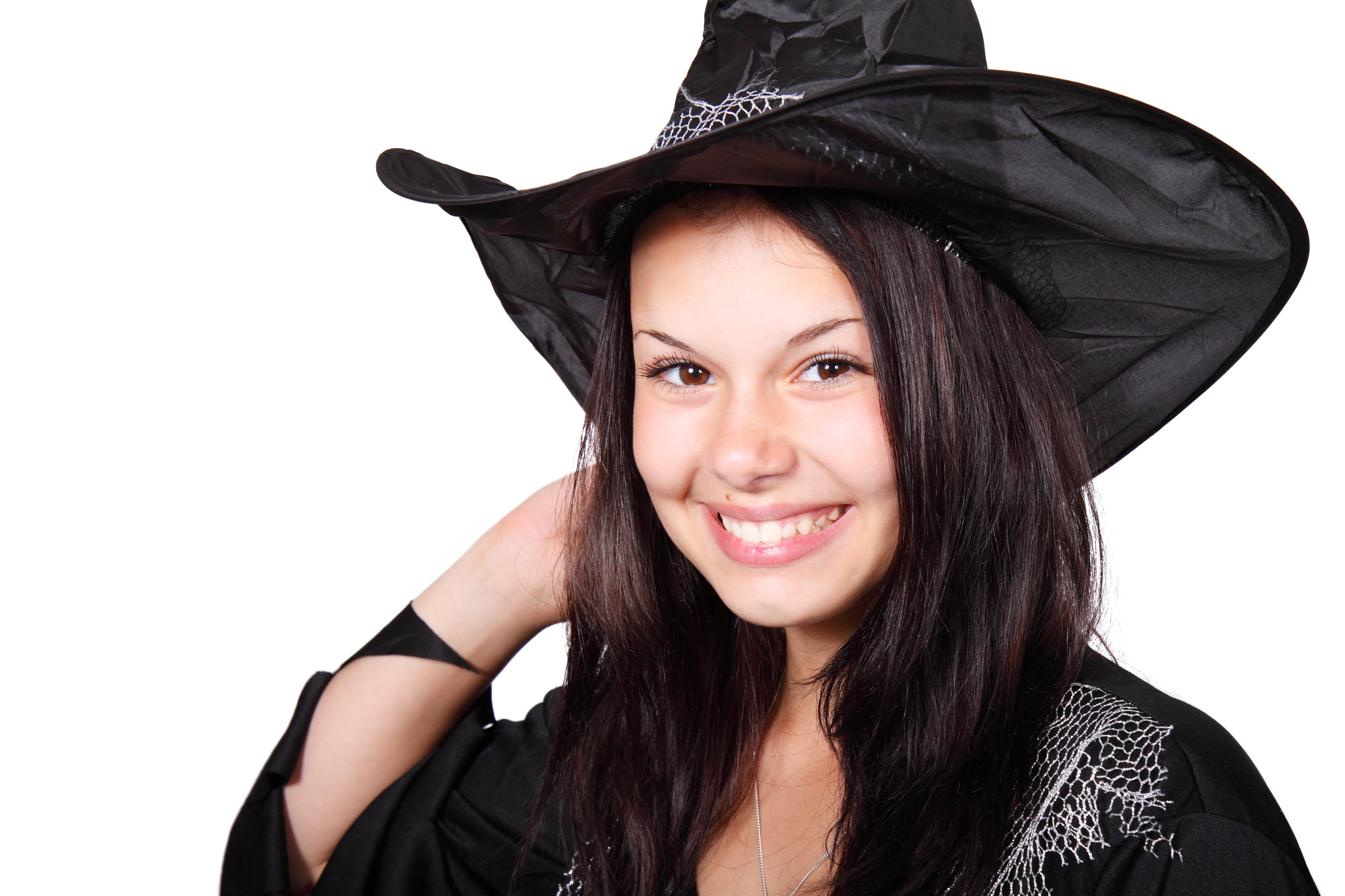 Smiling Woman Wearing With Hat