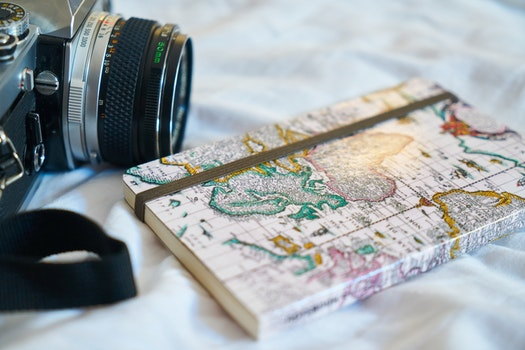 Free stock photo of holiday, camera, notebook, photography