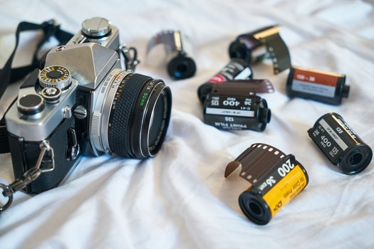 Free stock photo of holiday, camera, photography, vintage