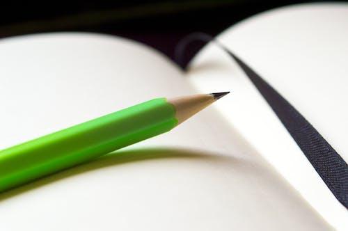 ぼかし, ページ, 緑, 鉛筆の無料の写真素材