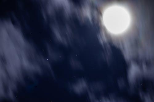 Free stock photo of céu, estrelas, lua, luz da lua