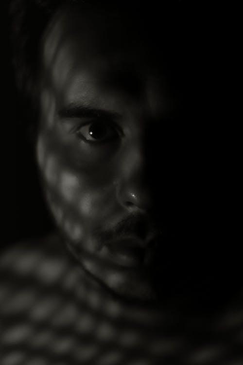 Free stock photo of escuro, luz, metade, Olhos