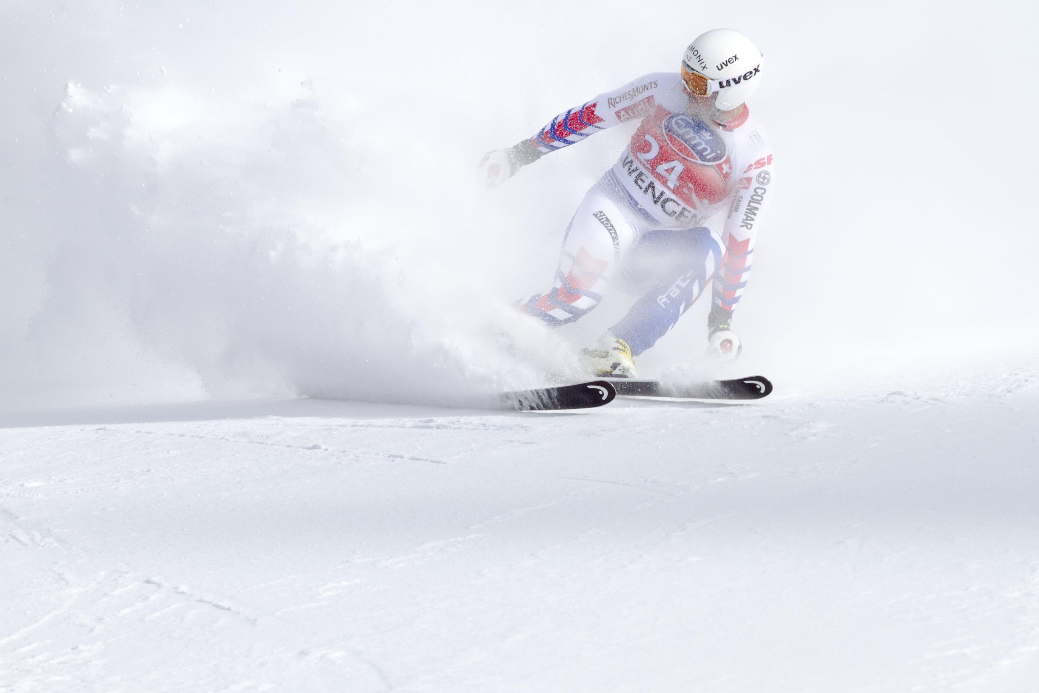 アクション, コールド, スキー, スキーヤーの無料の写真素材