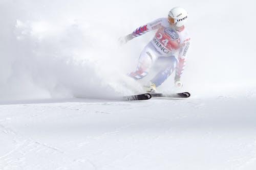 คลังภาพถ่ายฟรี ของ การกระทำ, การเคลื่อนไหว, การเล่นสกี, กีฬา