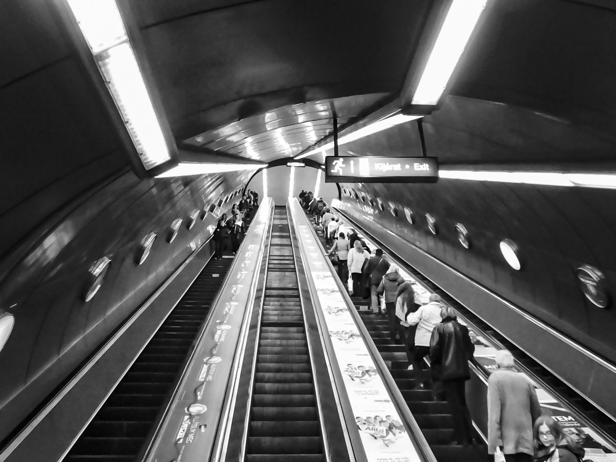 Free stock photo of travel, underground, escalator, metro