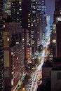 light, city, road