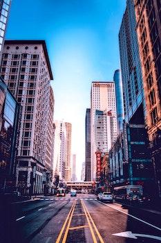 Free stock photo of city, road, traffic, sky