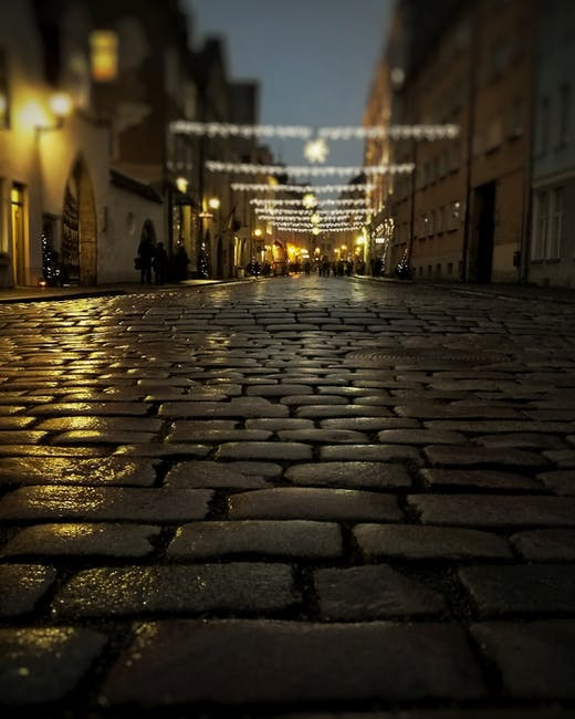 New free stock photo of road, lights, night