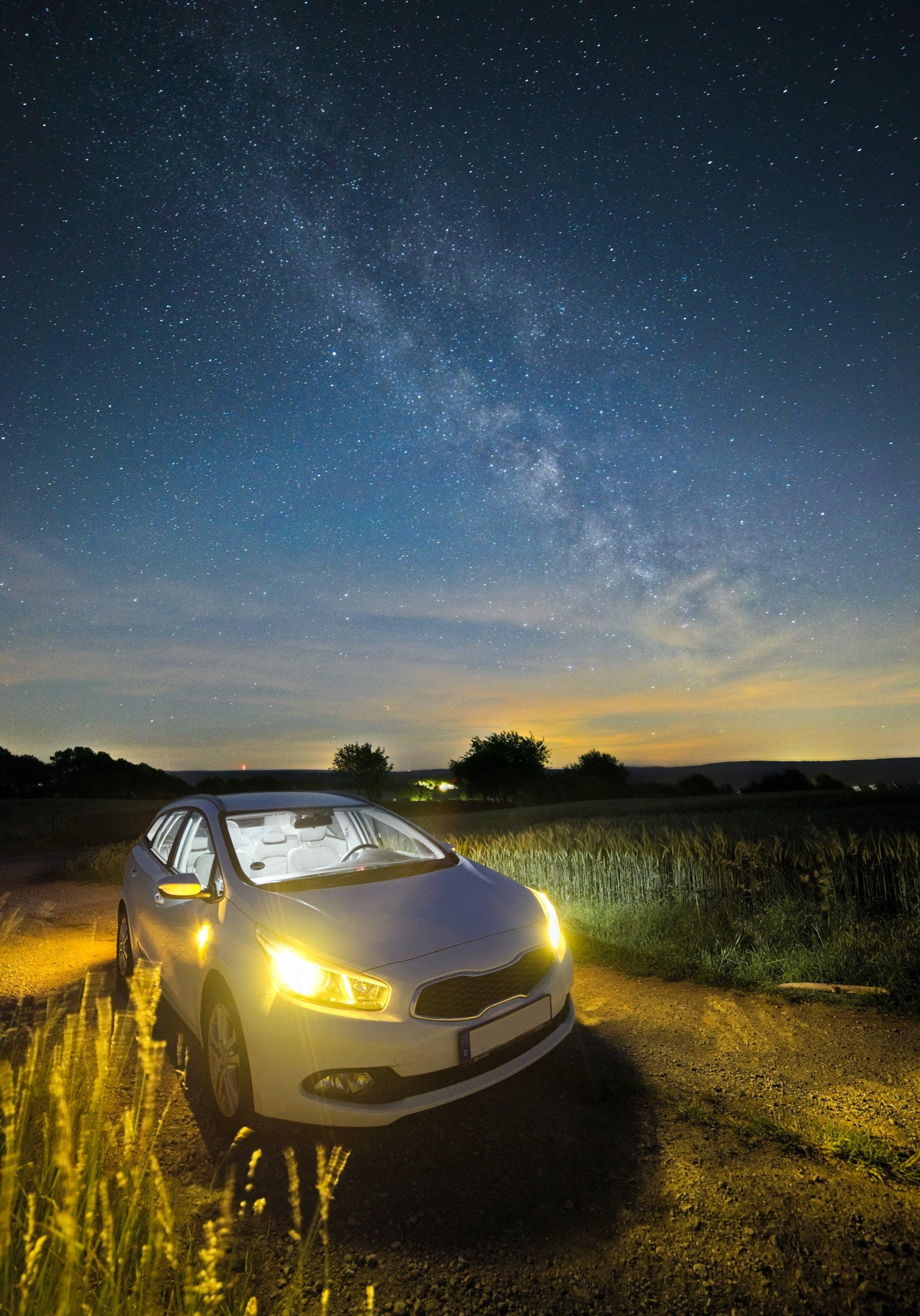 Free stock photo of traffic, sky, lights, night