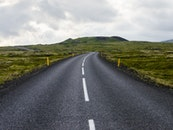 road, landscape, sky
