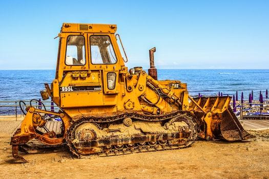 Free stock photo of yellow, metal, vehicle, excavator