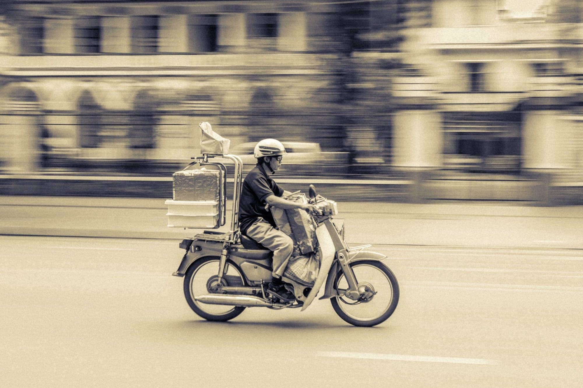 akce, biker, cyklista