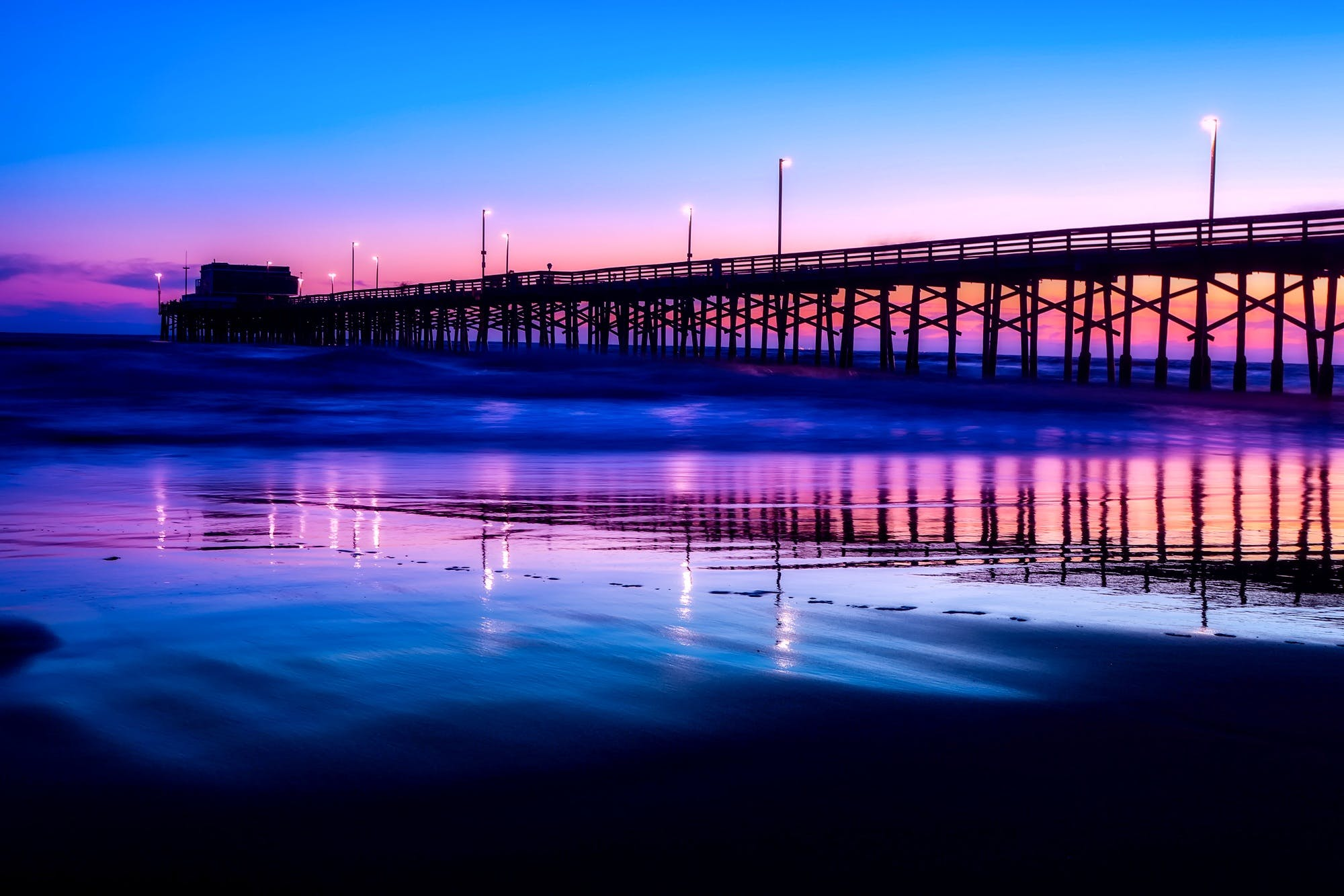Silhouette Photography of Wooden Bridge