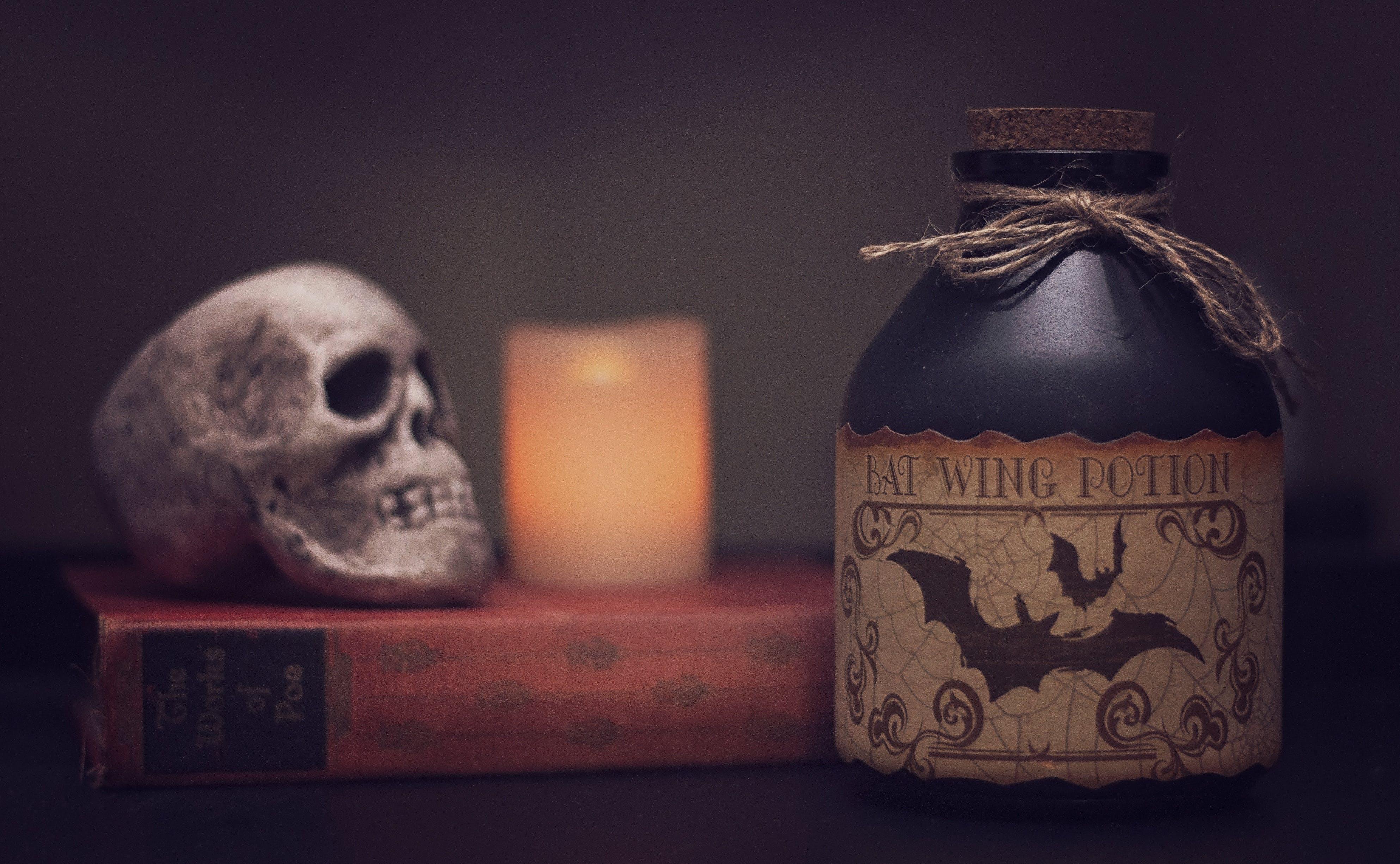blur, book, candle