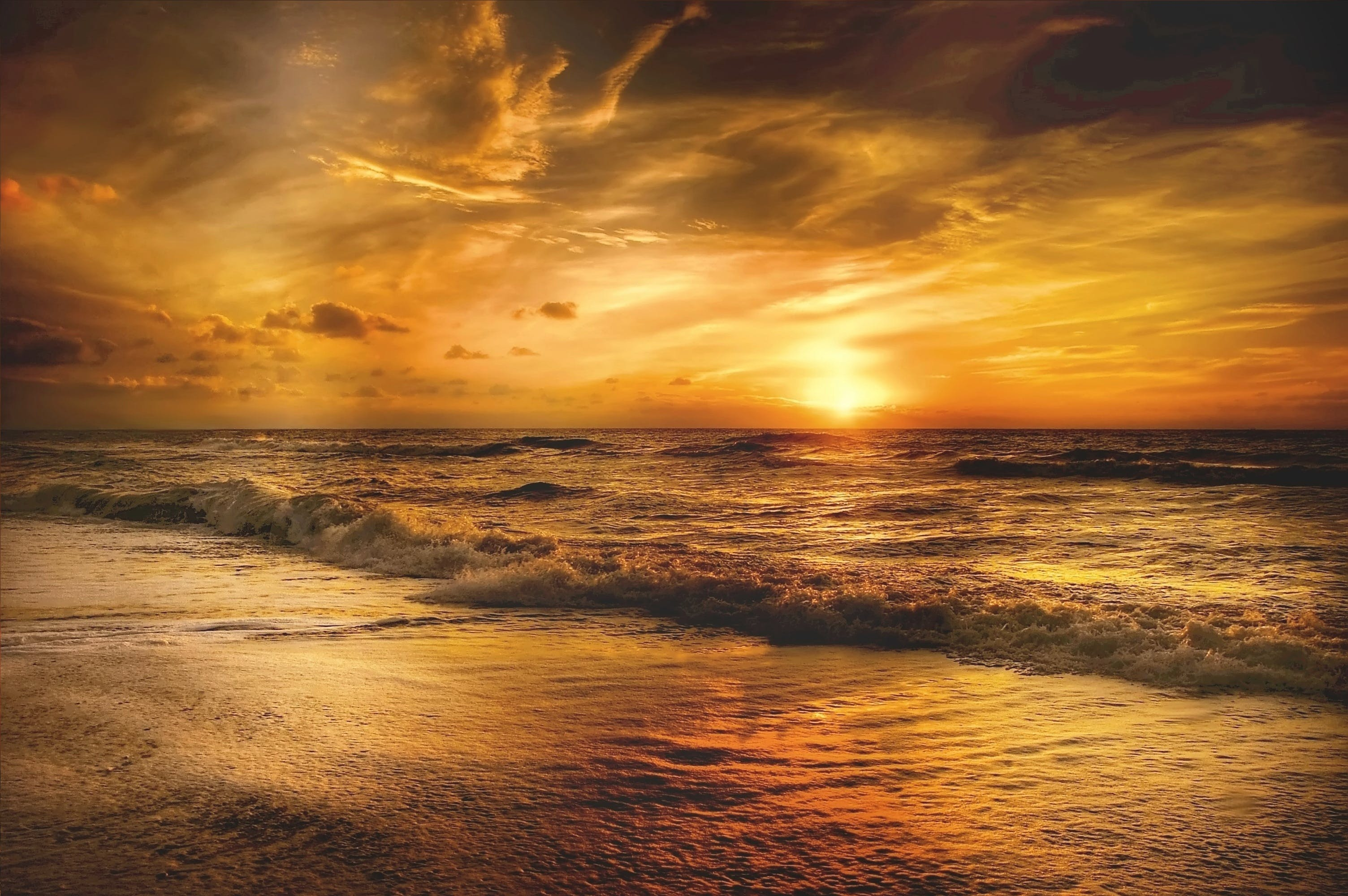 Golden-hour Photography of Body of Water