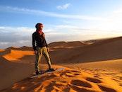 sky, sand, desert