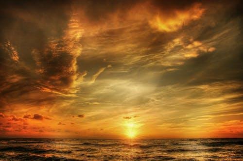 Photos gratuites de aube, ciel, coucher de soleil, coucher du soleil