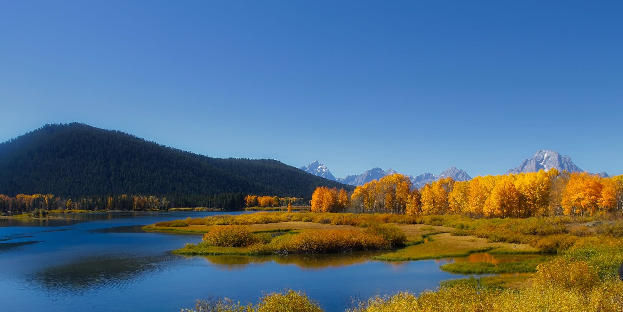 Panoramic Photography Body of Water Facing Mountain and Trees