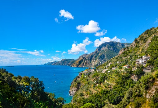 Free stock photo of sea, mountains, sky, water