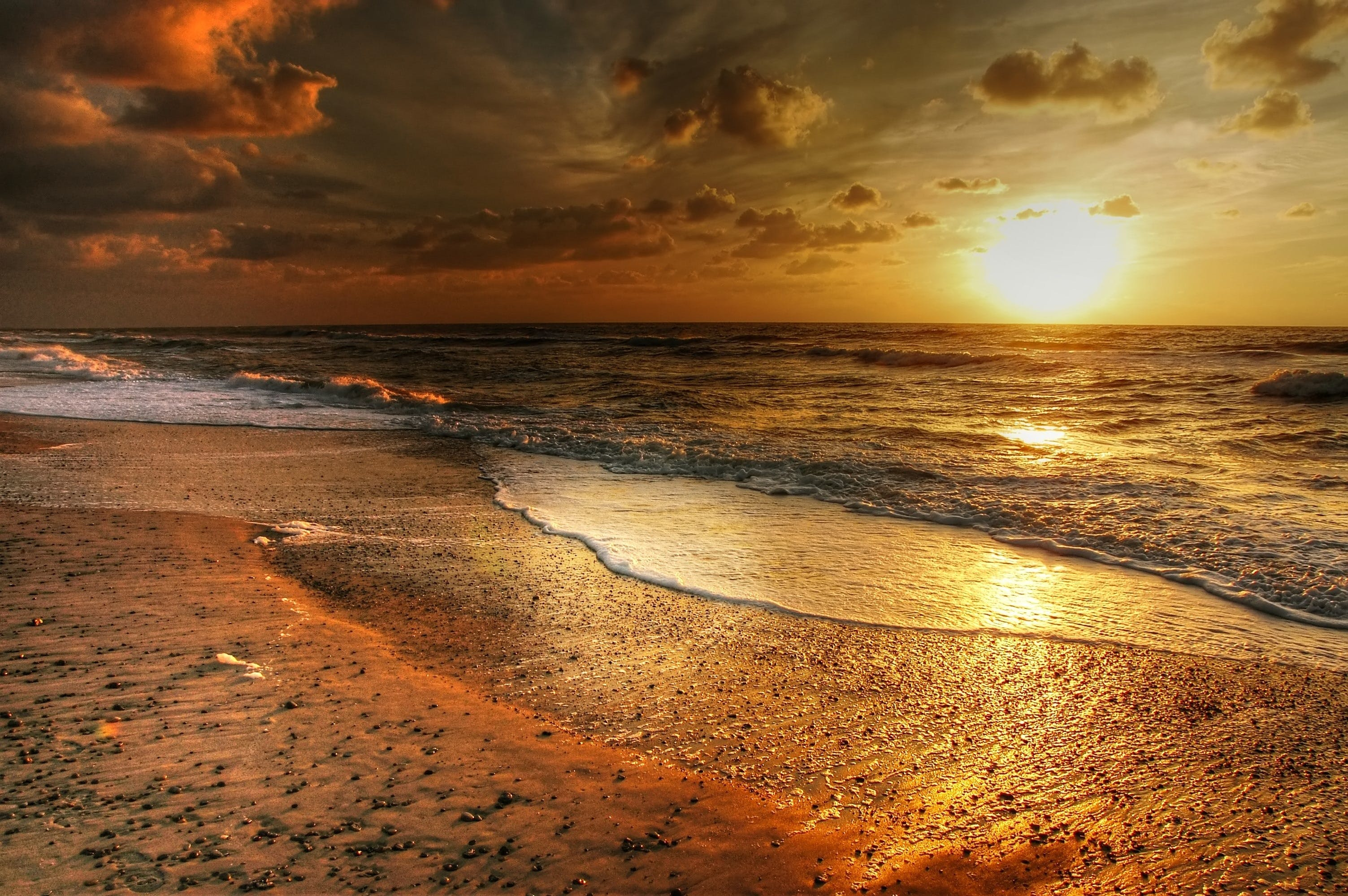 Golden Hour Photography of Seashore