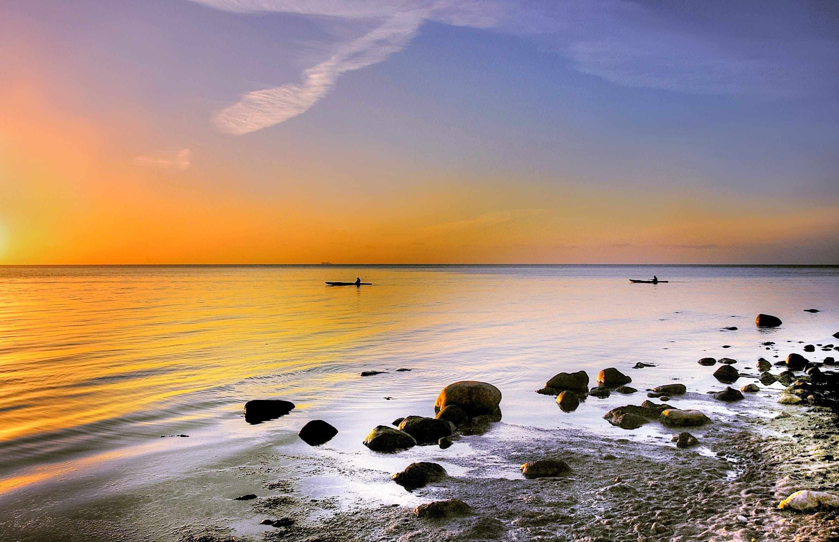 คลังภาพถ่ายฟรี ของ ขอบฟ้า, งดงาม, ชายทะเล, ชายหาด