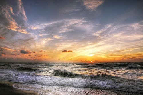 Gratis stockfoto met avond, blikveld, dageraad, golven